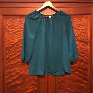 Medium Old Navy teal blouse GUC
